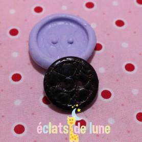 Moule en silicone bouton texturé cuire rond 24mm
