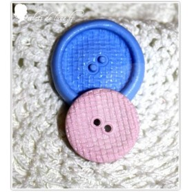 Moule en silicone bouton rond imitation osier  mm