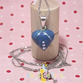 "Bola de grossesse ""Cœur bleu océan"""