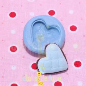 Moule en silicone biscuit cœur 20 mm