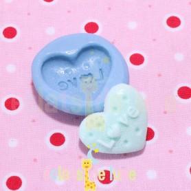 Moule en silicone biscuit cœur 23/20 mm