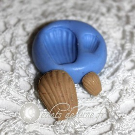 Moule en silicone mini madeleine 5 et 15 mm