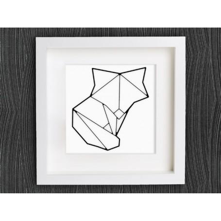 Fox dessiné en origami
