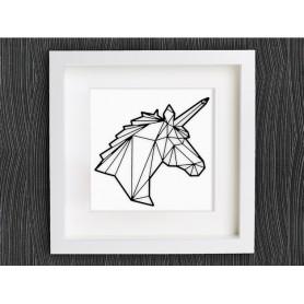Licorne dessiné en origami