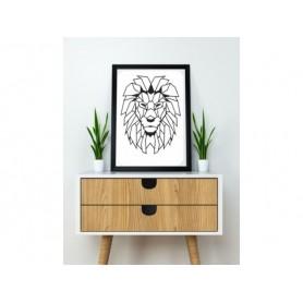 Lion dessiné en origami