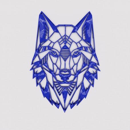 Wolf dessiné en origami