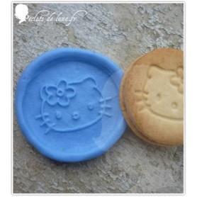 Moule en silicone biscuit petit chat 40 mm
