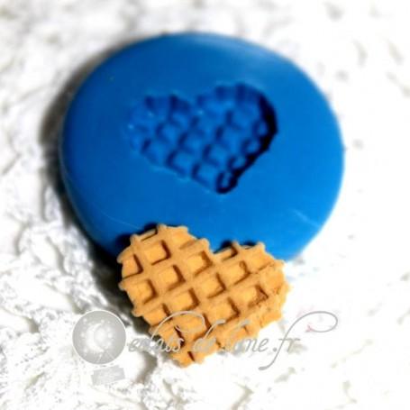 Moule en silicone gaufre cœur 18/14 mm