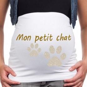 """Bandeau de grossesse """"mon petit chat"""""""