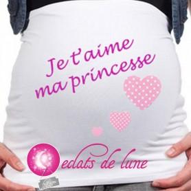 """Bandeau de grossesse """"ma petite princesse"""""""