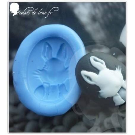 Moule en silicone camé lapin ovale 25/20 mm