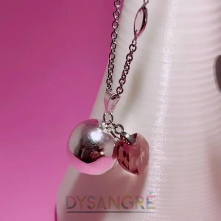Bola de grossesse « coeur rose»