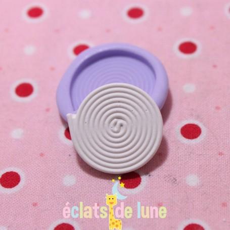 Moule en silicone bonbon réglisse 20mm