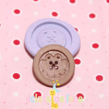 Moule en silicone bouton rond grenouille 25mm