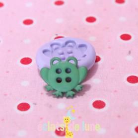 Moule en silicone bouton grenouille 12mm