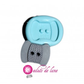 Moule en silicone bouton bobine 20/15 mm