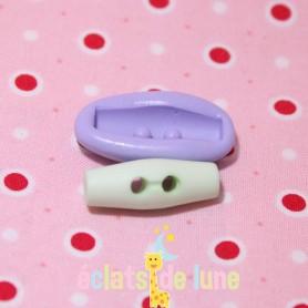 Moule en silicone bouton deux trous 26/10 mm