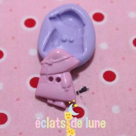Moule en silicone bouton petite fille 20/15mm