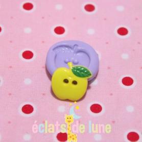 Moule en silicone bouton pomme 15 mm