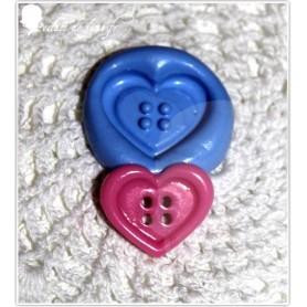 Moule en silicone bouton cœur 20/17 mm