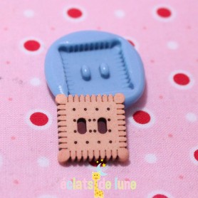 Moule en silicone bouton Biscuit 18 mm