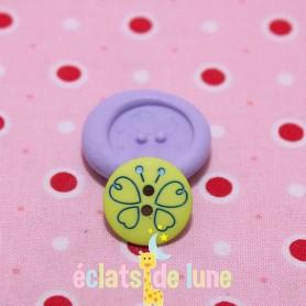 Moule en silicone bouton rond papillon 15 mm