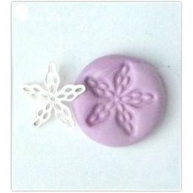 Moule en silicone fleur estampe 17mm