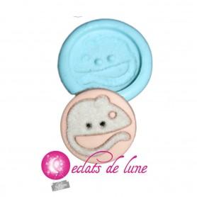 Moule en silicone bouton rond souris 20 mm