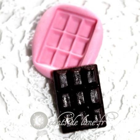 Moule en silicone tablette chocolat 30/20 mm